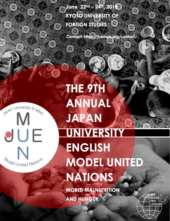 JUEMUN 2018 poster